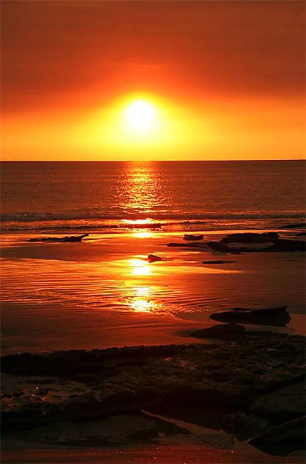 Sunset cable beach coucher de soleil broome kimberley western australia australie - Photos coucher de soleil ...