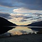 Coucher de soleil sur le lac Wakatipu