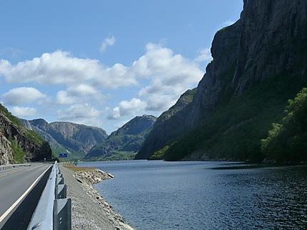 La route du Lysefjord