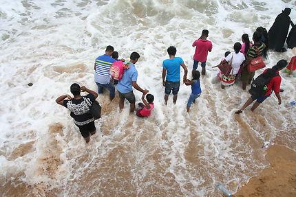 Un dimanche à la plage à Colombo !
