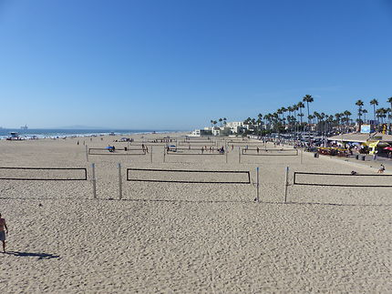 Plage immense de Huntington Beach