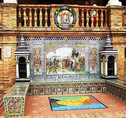 La place d'Espagne et ses azulejos
