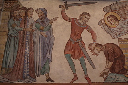 Peinture murale de l'Abbaye de Hohenbourg