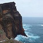 Falaise de roches volcaniques
