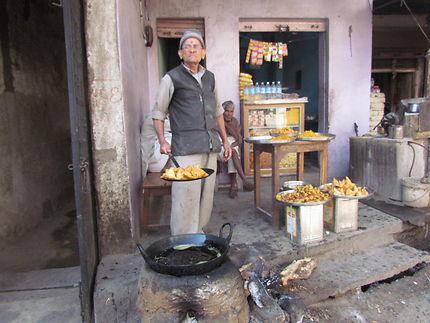 Cuisine de rue en Inde