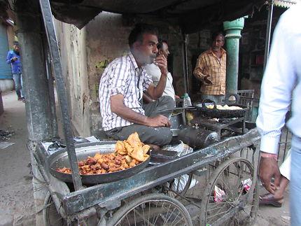 Cuisine ambulante en Inde