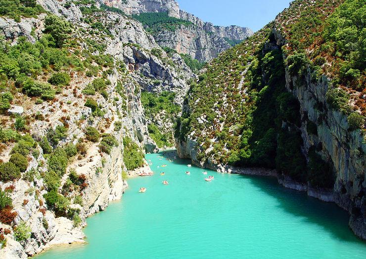 Les gorges du Verdon (Alpes-de-Haute-Provence, Var)