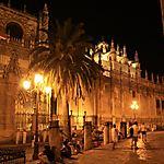 Cathédrale de Séville la nuit