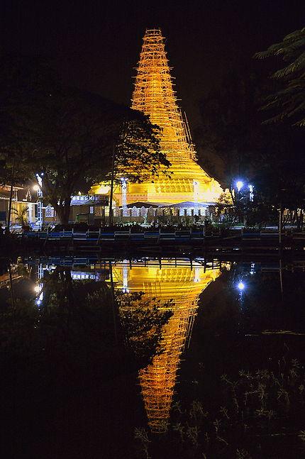 Vue nocturne sur la pagode