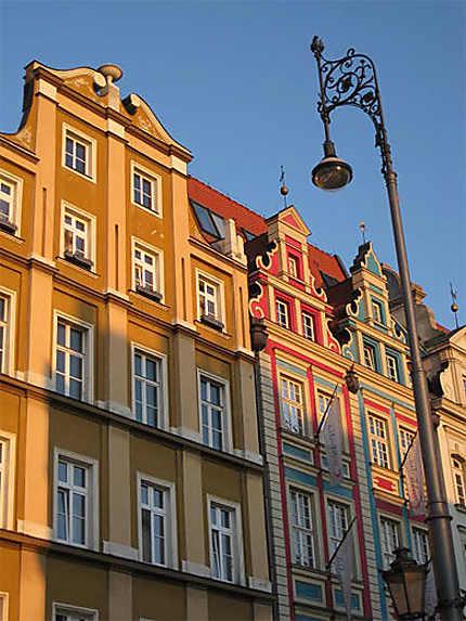 Wroclaw: détail du Rynek