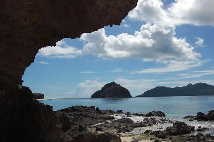 Coin désert sur un îlot à Mayotte