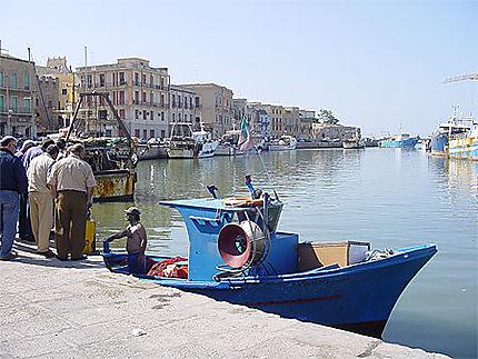 Le port à l'embouchure du fleuve Màzaro