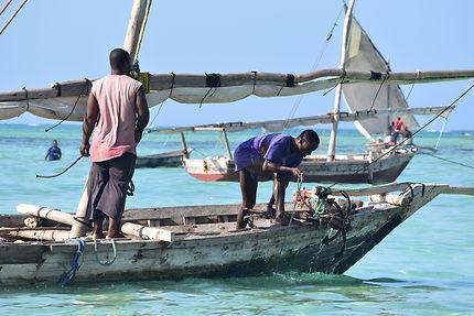 Pêcheurs à Nungwi