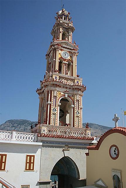 Le clocher du monastère de Panormitis (ïle de Symi)