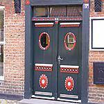Belle porte à Ribe (sud-ouest du Jutland)