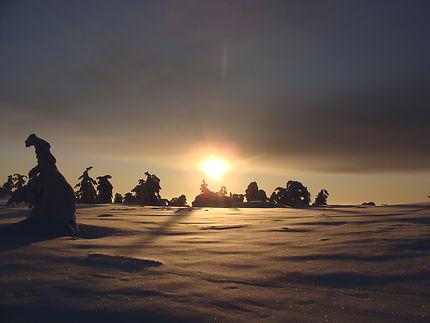 Coucher de soleil en Laponie, Ivalo