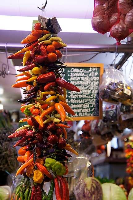Des piments colorés