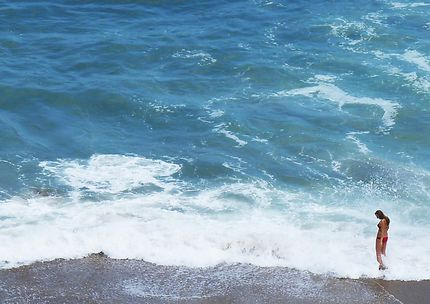 Dans la vague à Biarritz