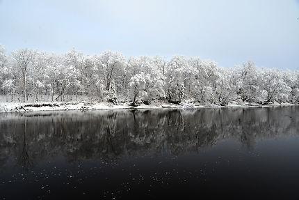 Milles tonalité et luminosités, l'hiver québécois