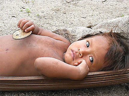 Enfant Kogis, Sierra Nevada, Colombia