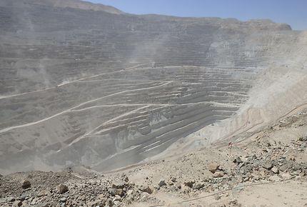 Que de poussière dans la mine de Chuquicamata