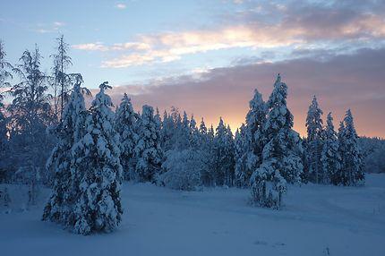 Sortie de l'aéroport de Rovaniemi