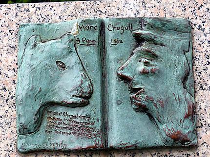 Plaque de Chagal - Fontaine de la Paix