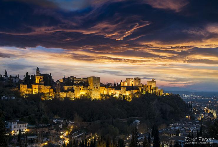 Alhambra depuis le Sacromonte, Andalousie, par david41968