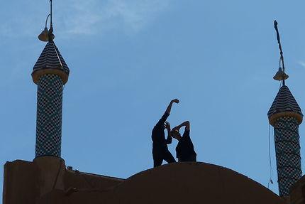 Jeux d'ombres à Yazd, Iran
