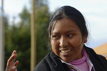 Une bien sympathique habitante de l'île d'Amantani