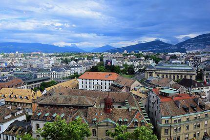 Vue sur la ville depuis le sommet de la cathédrale
