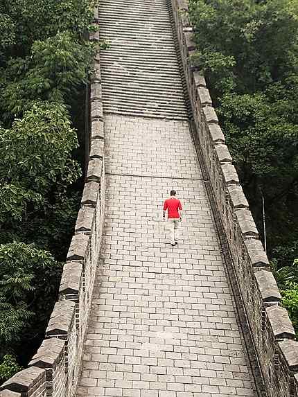 Marcheur sur la Grande Muraille