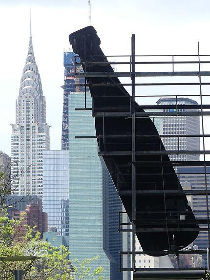 Chrysler building vu depuis Long Island