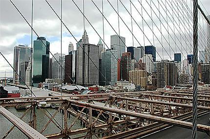 La Skyline vue du pont de Brooklyn