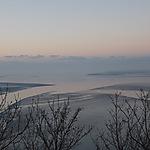 Couché de soleil sur la baie du Mont St Michel