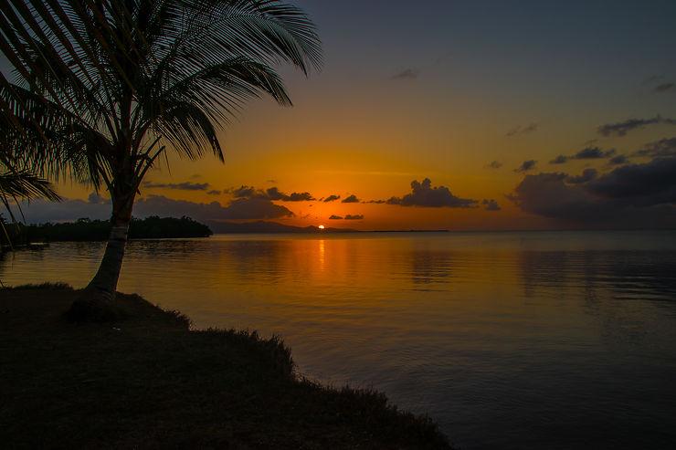 Coucher de soleil, Plage de Babin, Guadeloupe