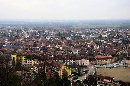 Vue sur Obernai depuis le Belvédère, Alsace