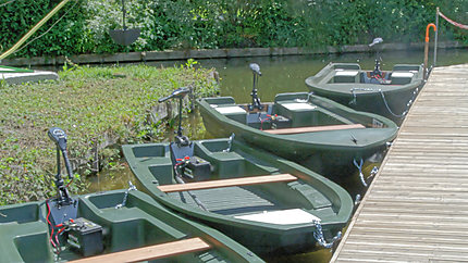 Barques en location au Musée des Hortillonnages