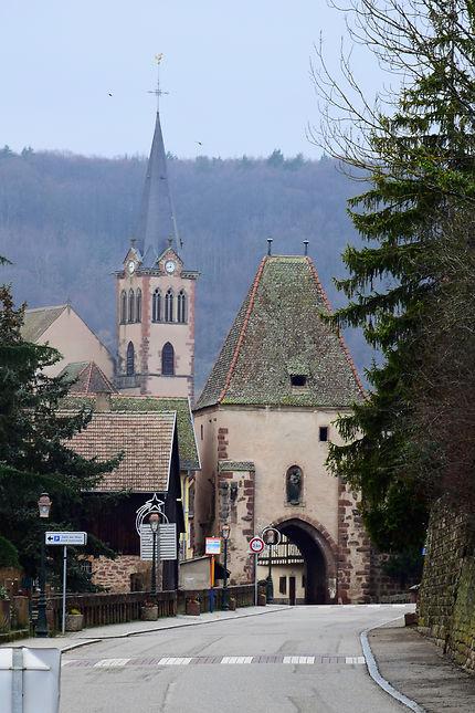 L'entrée du village de Boersch, Alsace
