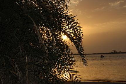 Coucher se soleil à Simal