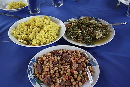 Echantillon de plats typiques