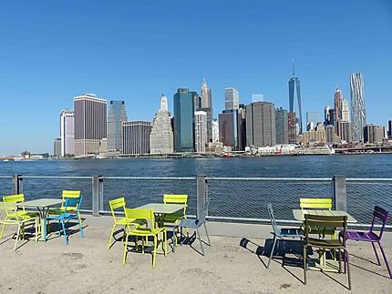Vue de Brooklyn sur Manhattan