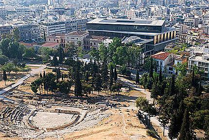 Le théâtre de Dionysos et le musée de L'Acropole