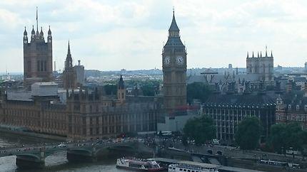Parlement et Big Ben vu de l'oeil de Londres
