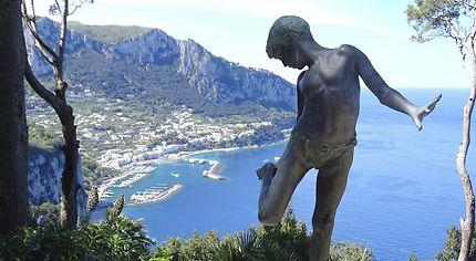 Capri vue de la villa Lysis