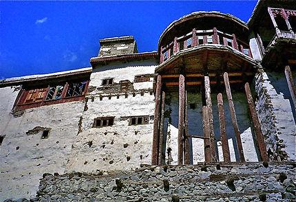 Le fort d'Hunza dont les balcons sont en bois