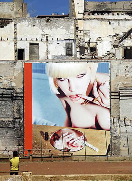 Exposition dans les rues de Palerme