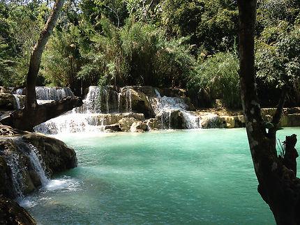 Les eaux cristallines de Kouang Si, au Laos