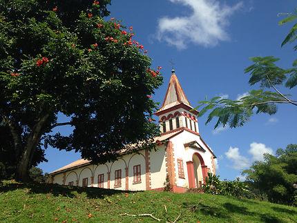 L'église du village de Roura, Guyane