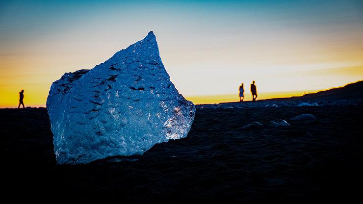Avec glaçons !  Jökulsarlón, Islande